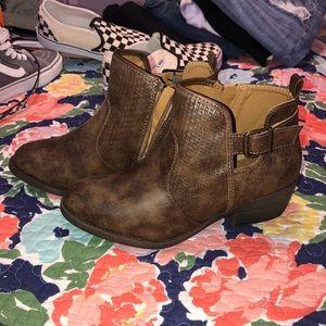 short brown boots